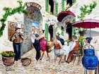 Corner Cafe at Cafe da Vinci I | Bentley Art Publishing | West, Ronald
