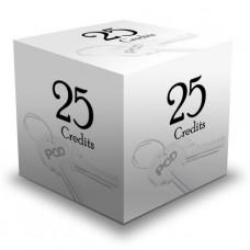 25 Printing Credits